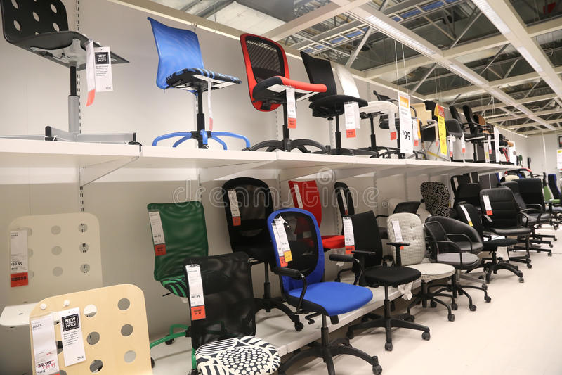montrez la pi ce l 39 int rieur du magasin d 39 ikea photo stock ditorial image du marque. Black Bedroom Furniture Sets. Home Design Ideas
