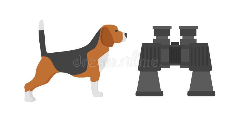 Montrez le chien du briquet de race sur le chienchien de pure race adorable de fond terrier amical animal rapide blanc de chasseu illustration libre de droits