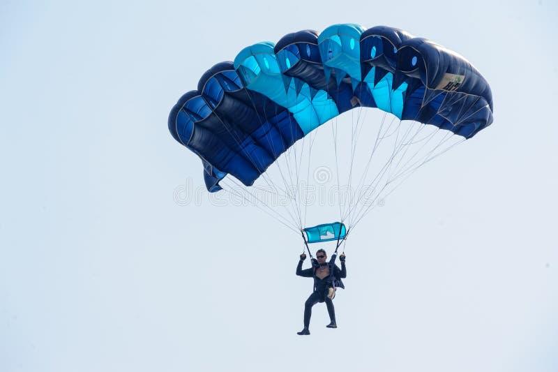 Montrez le programme du parachutiste photos libres de droits