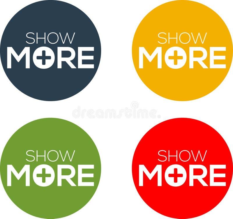 Montrez plus de vecteur pour l'icône, le bouton, le label, etc. illustration libre de droits