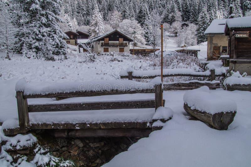 Montroc, Chamonix, haute Savoie, Frankreich stockbild