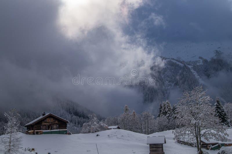 Montroc, Chamonix, haute Savoie, Frankreich lizenzfreies stockbild