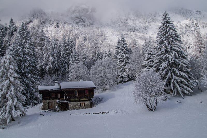 Montroc, Chamonix, haute Savoie, Frankreich stockfotografie