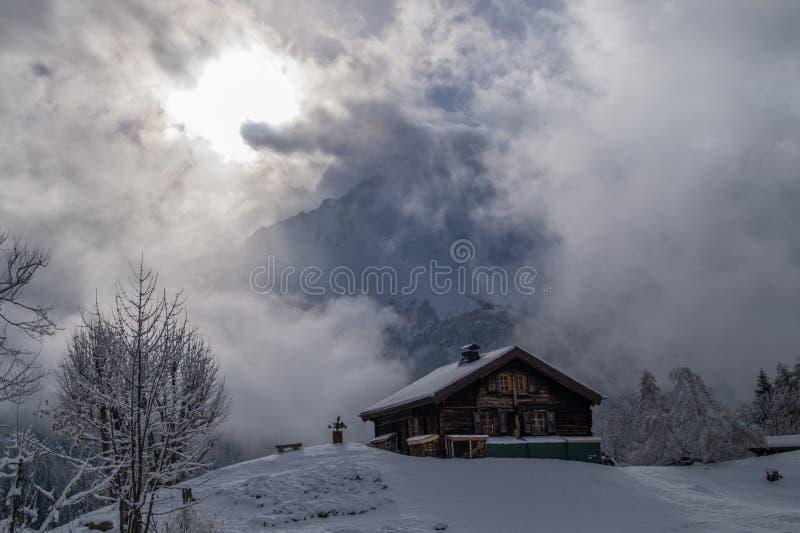 Montroc, Chamonix, haute Savoie, Frankreich lizenzfreie stockfotografie