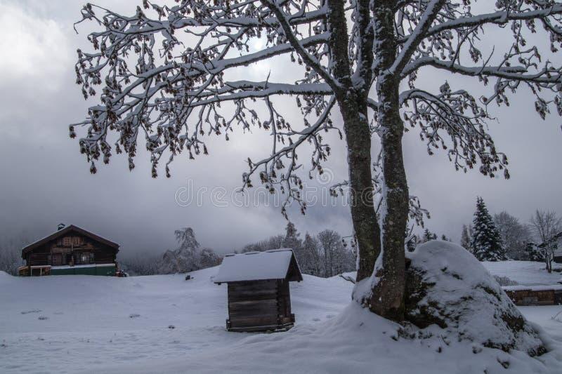 Montroc, Chamonix, haute Savoie, Frankreich lizenzfreies stockfoto