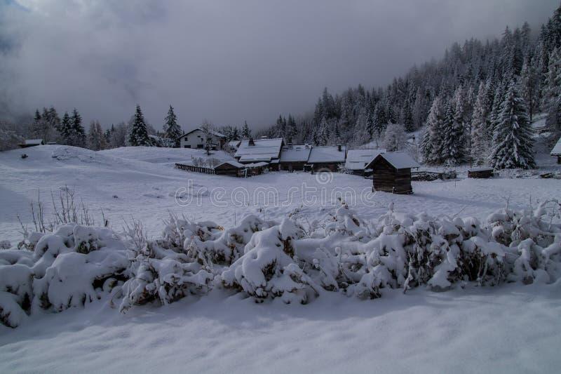 Montroc, chamonix, haute Savoie, Frankrijk royalty-vrije stock foto