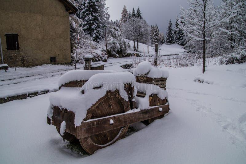 Montroc, chamonix, Saboia haute, france foto de stock royalty free