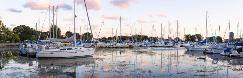 Montrose Harbor royalty-vrije stock afbeelding
