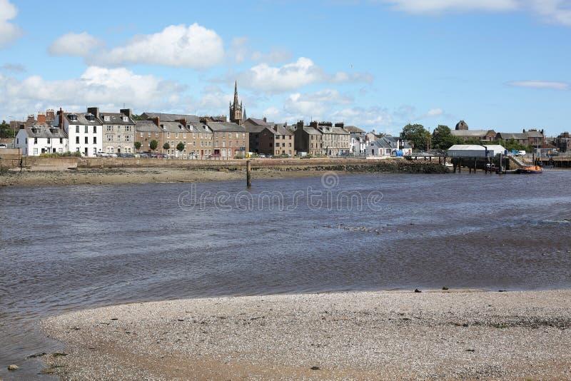 Montrose i Rzeczny Esk w Szkocja, Wielki Brytania fotografia stock