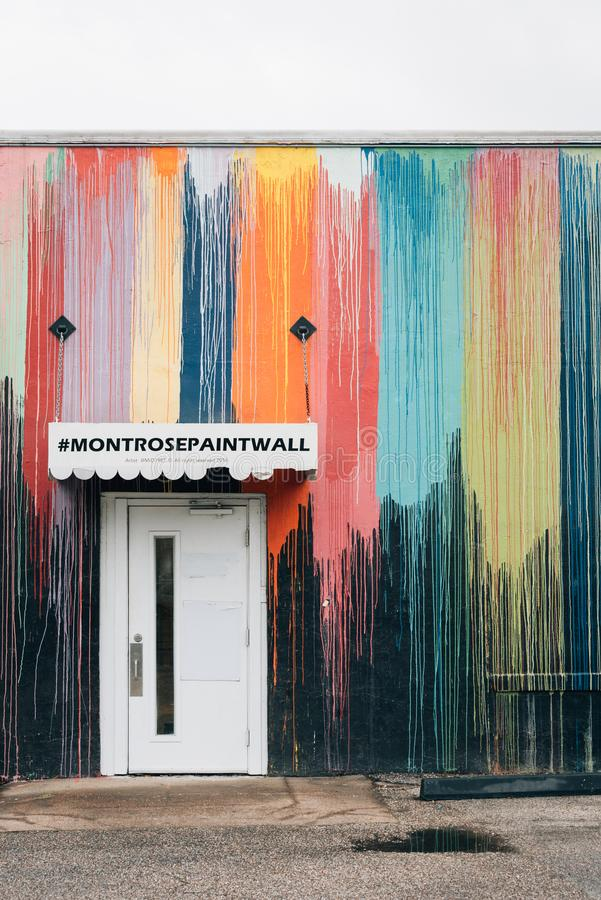 Montrose Paint Wall, em Houston, Texas fotos de stock royalty free