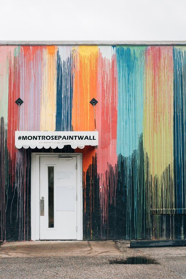 Montrose Paint Wall, i Houston, Texas royaltyfria foton