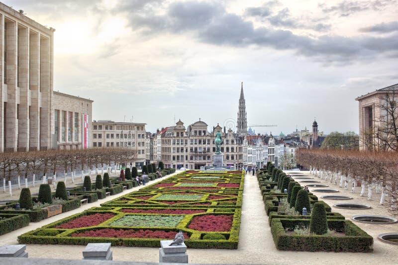 Monts des-konster i Bryssel, Belgien royaltyfria foton