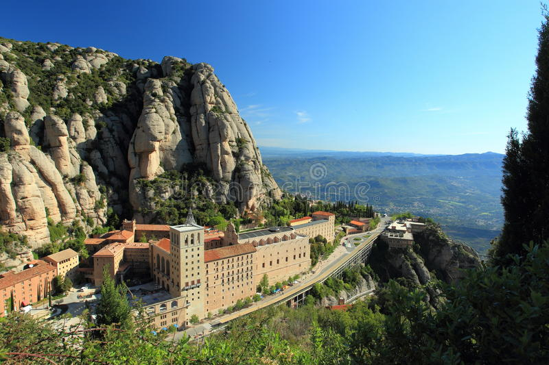 Montserrat abbey royalty free stock photography