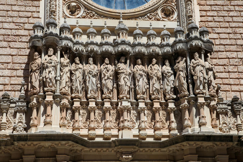 Montserrat Abbey stock image