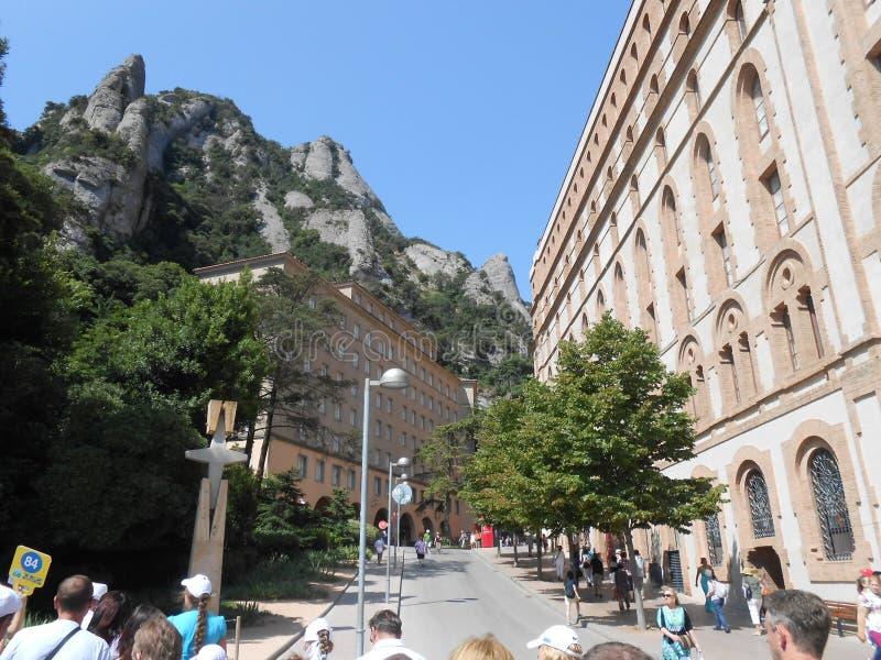 Montserrat berg in Spanje stock afbeelding