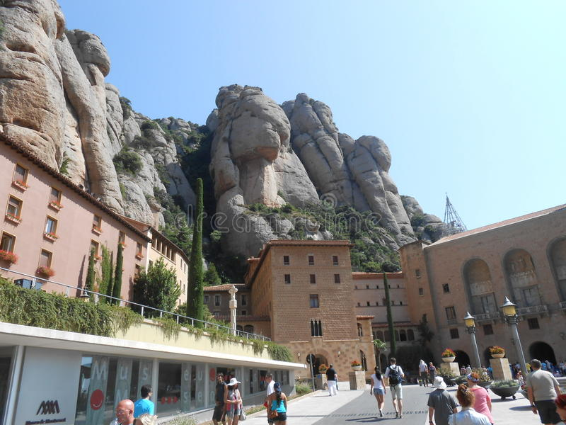 Montserrat berg in Spanje royalty-vrije stock afbeeldingen