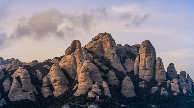 Montserrat bergscenery arkivbild