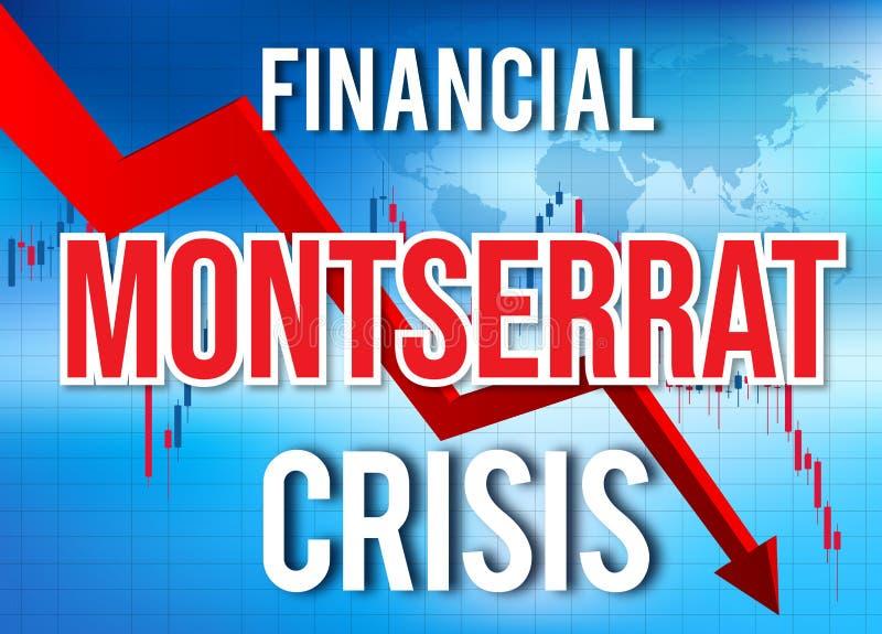 Montserrat Financial Crisis Economic Collapse Market Crash Global Meltdown. Illustration stock illustration