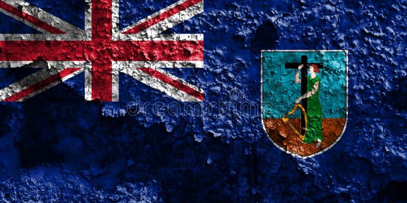 Montserrat grungeflagga, brittiska utländska territorier, Britannien de royaltyfri bild