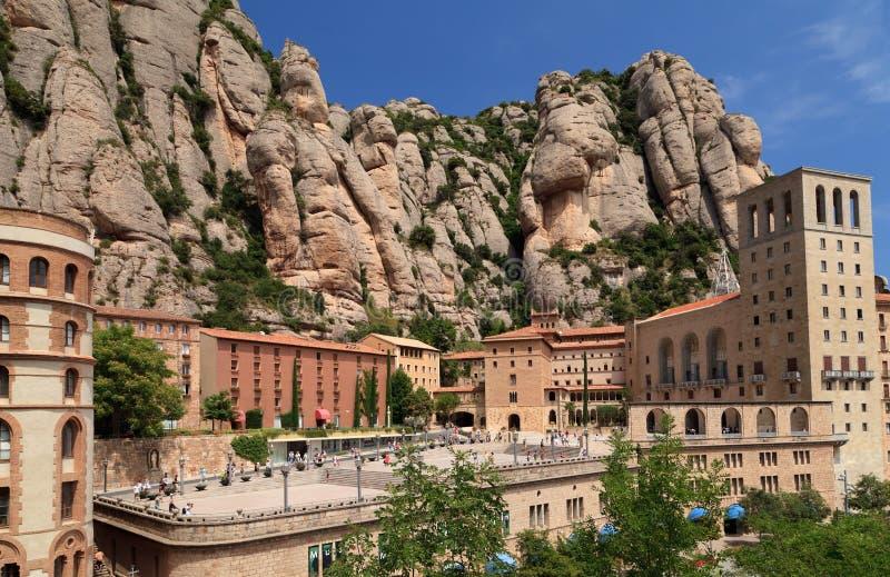 Montserrat kloster. Catalonia Spanien arkivbilder