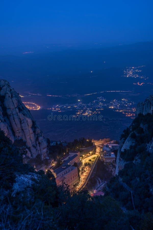 Montserrat-kloster arkivbild