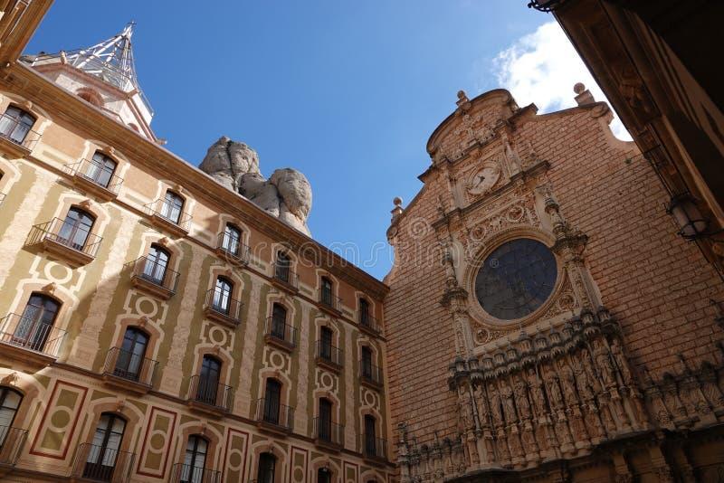 Montserrat-Klosterbasilika nahe Barcelona in Spanien stockbild