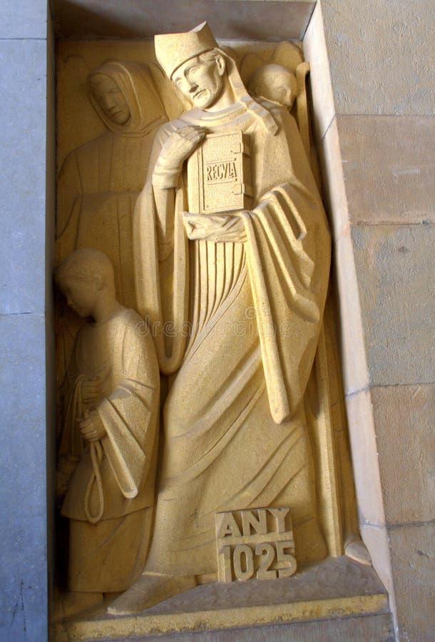 Montserrat monasteru rzeźba, Hiszpania fotografia royalty free