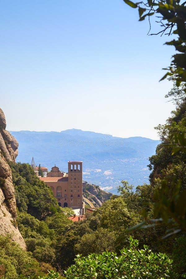 Montserrat monasteru widok w górach obraz royalty free