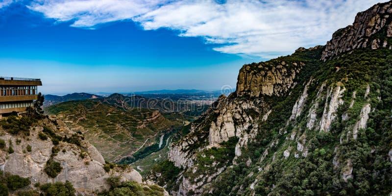 The Montserrat monastery royalty free stock photos