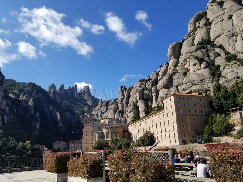Montserrat Monastery Barcelona Canalonia Spain royalty-vrije stock foto