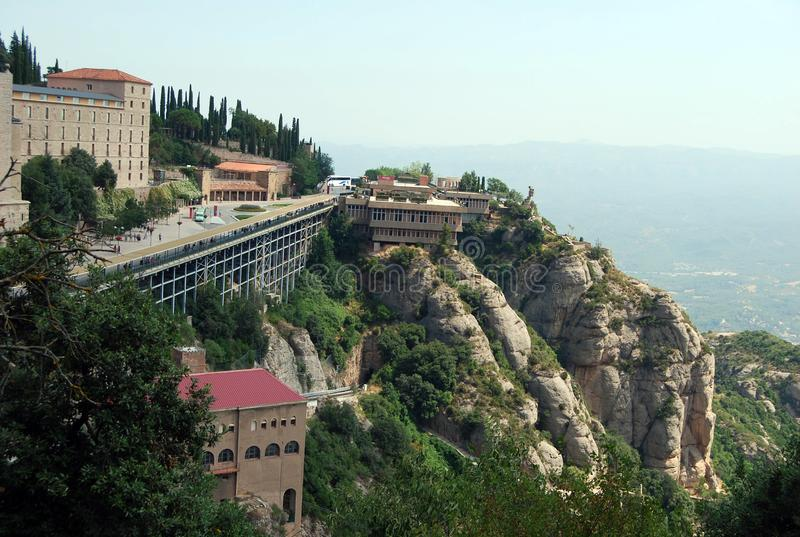 Montserrat Monastery. Catalonia, Spain. Stone Rocks located on the mountain of Montserrat royalty free stock images