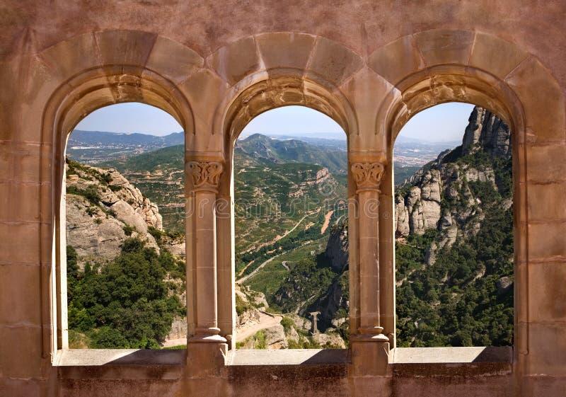 Montserrat mountain in Catalonia, Spain stock photography