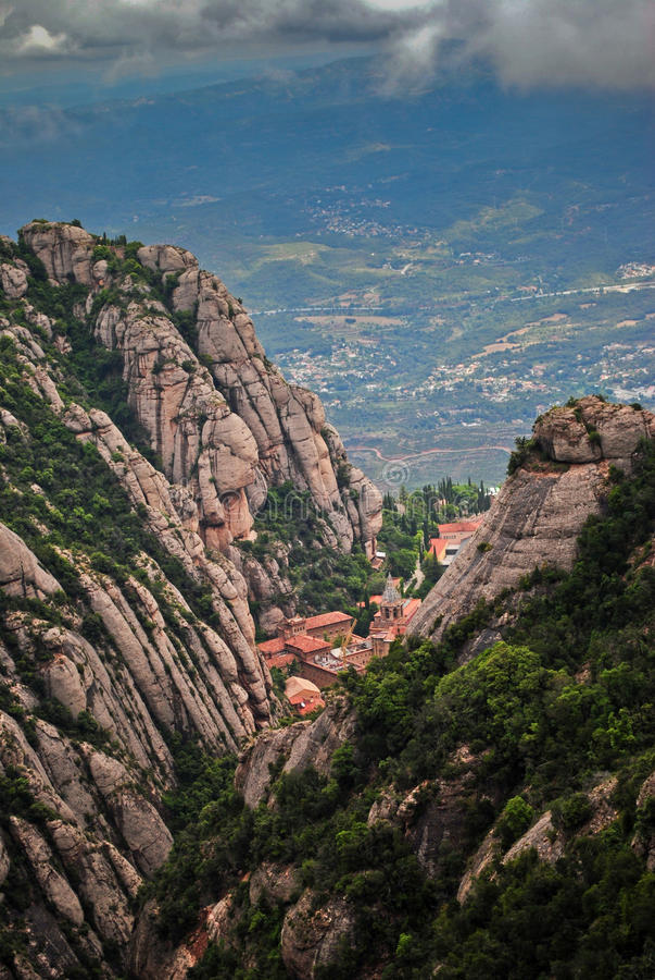 montserrat Spain fotografia stock