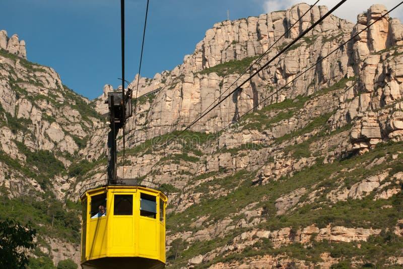Cable car ride to Montserrat Abbey. Spain. MONTSERRAT SPAIN - JUNE 17, 2011: Cable car ride to Montserrat Abbey. Spain stock image
