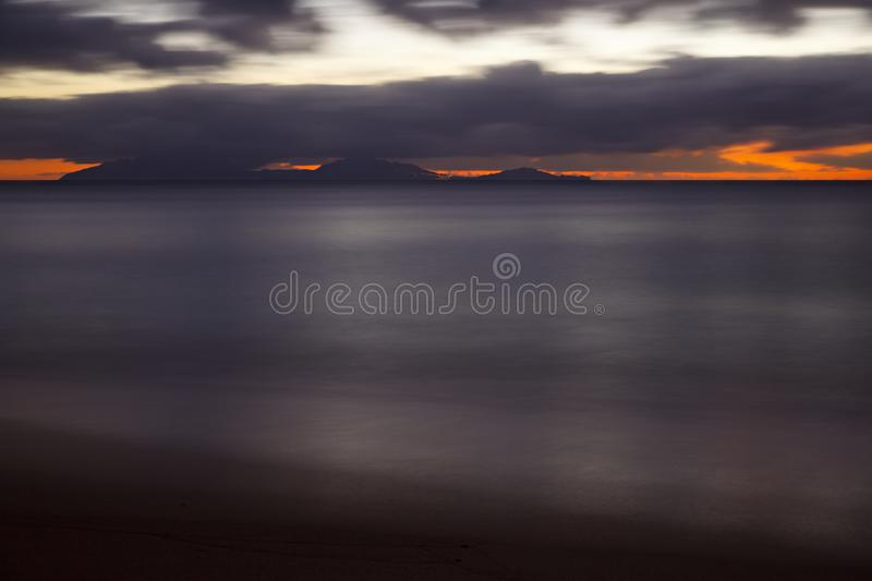 Montserrat After Sunset, Antigua stock fotografie