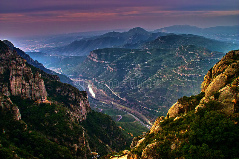 Montserrat - view from Monastery stock photography
