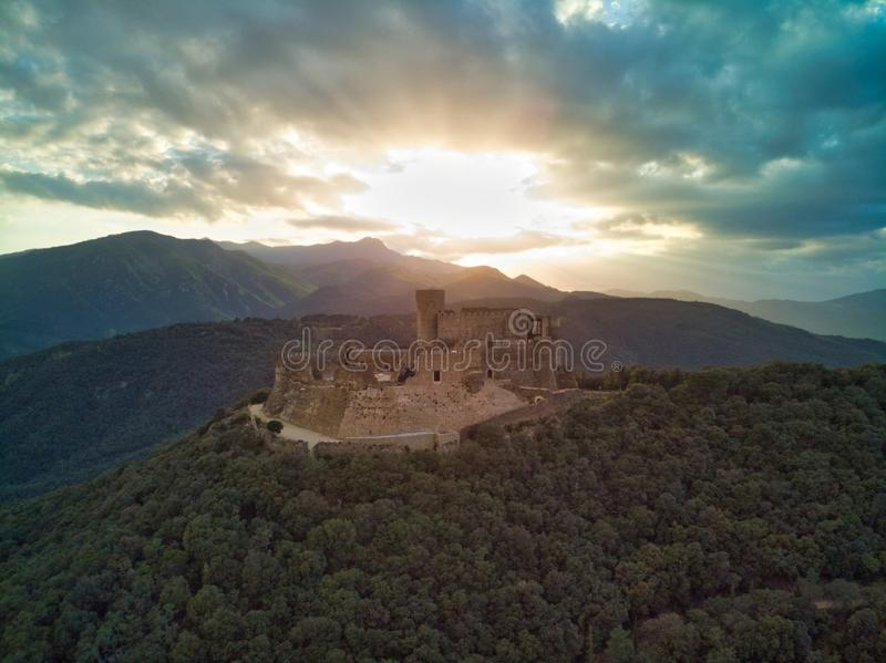 Montsoriu城堡加泰罗尼亚 免版税库存照片