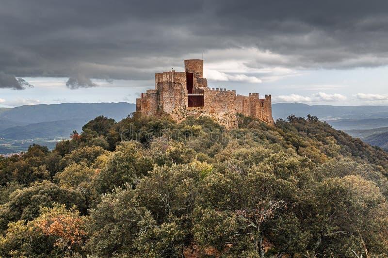 Montsoriu城堡,加泰罗尼亚 库存照片