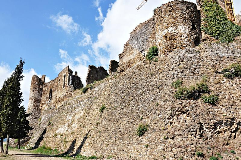 Montsoriu赫罗纳城堡  免版税库存图片