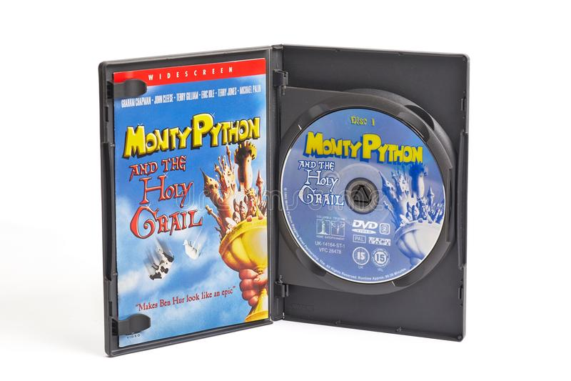Monty Python y El DVD del santo grial foto de archivo libre de regalías