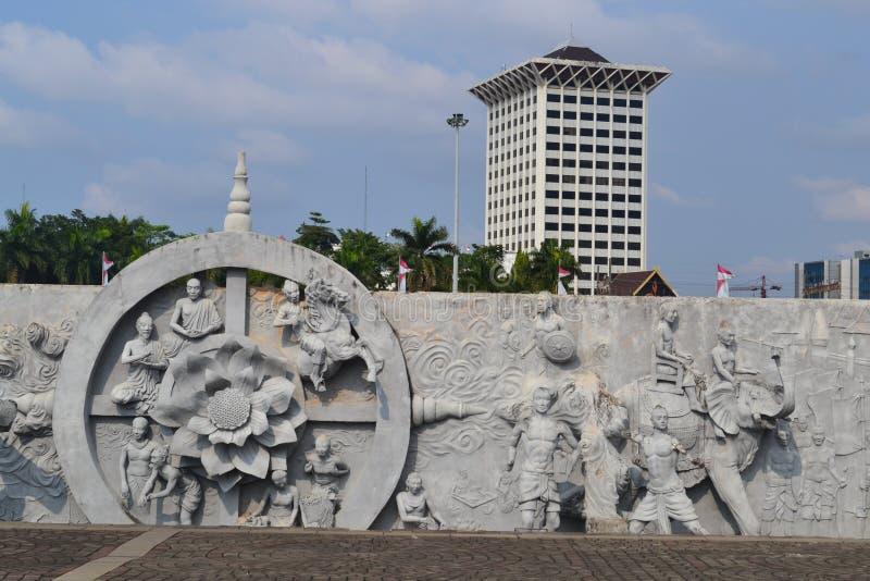 Monumen Nasional, Jakarta. Blue Sky on National Monumen of Jakarta. The one of famous landmark in Indonesia, especially Jakarta. Beautiful object for photograp royalty free stock photo