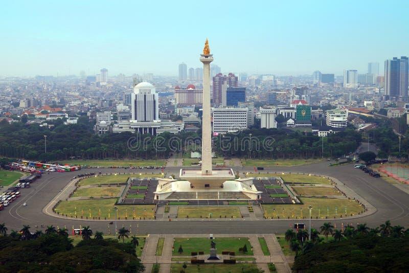 Monumen Nasional Jakarta lizenzfreie stockbilder
