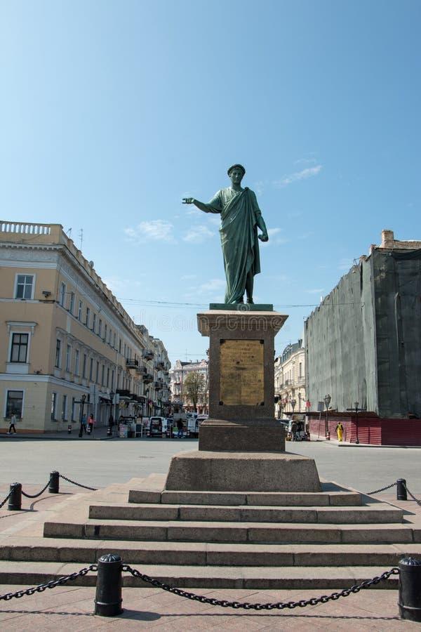 Monument公爵de Richelieu 免版税库存图片