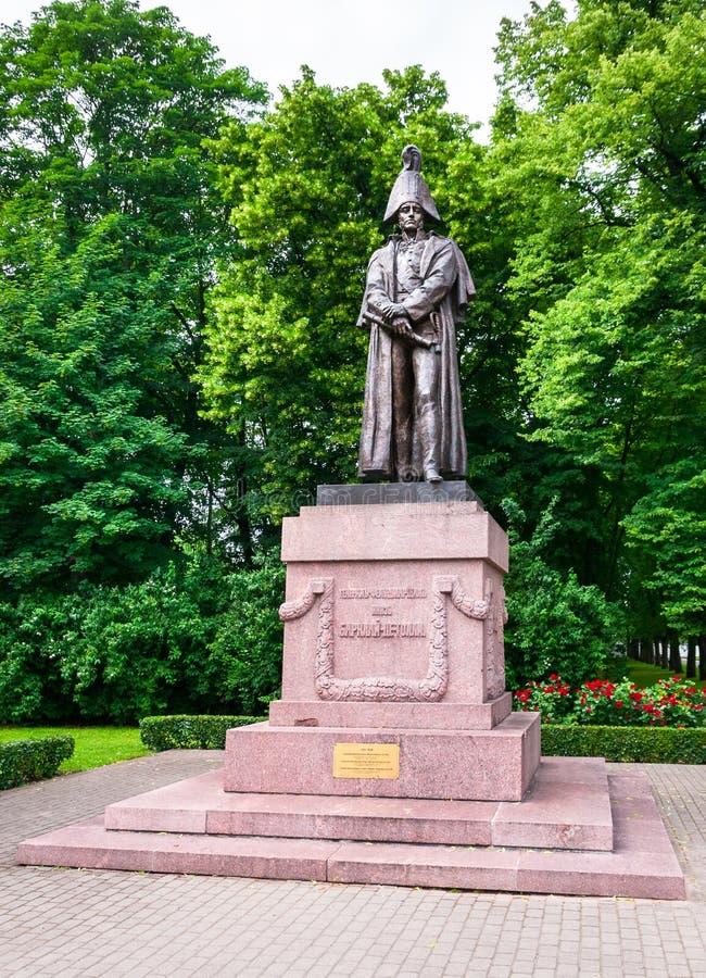 Monument à Barclay de Tolly, Riga, Lettonie images stock