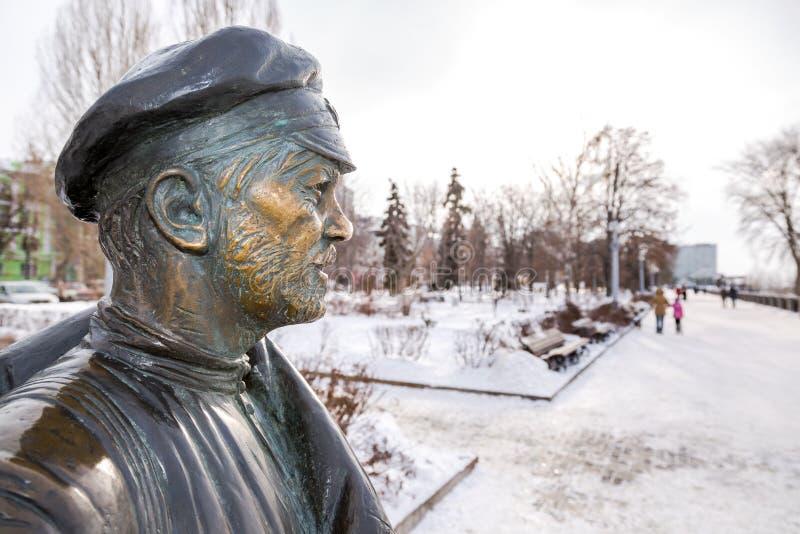 Monument à camarade Sukhov, le caractère principal du film image stock