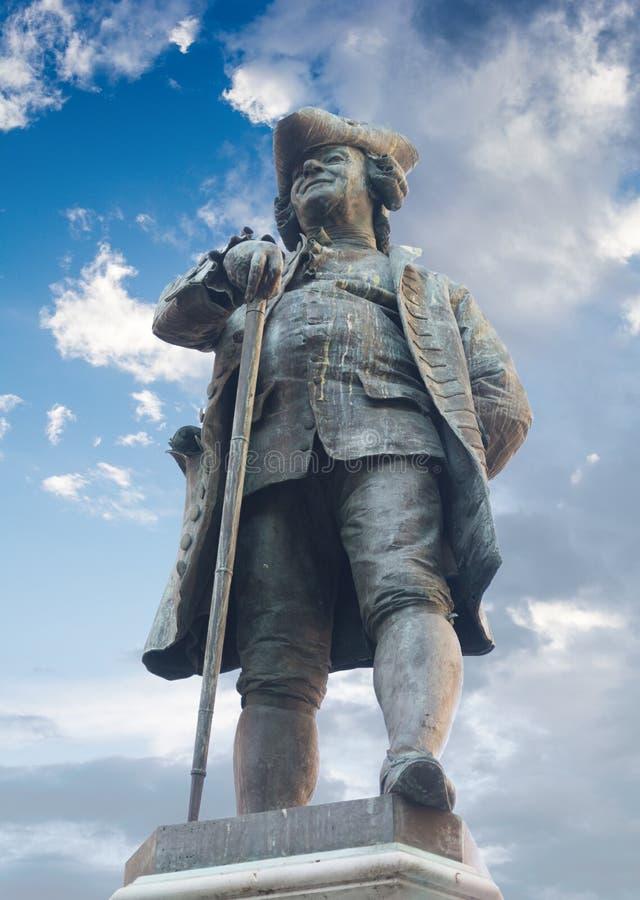 Monument à Carlo Goldoni à Venise, Italie image stock