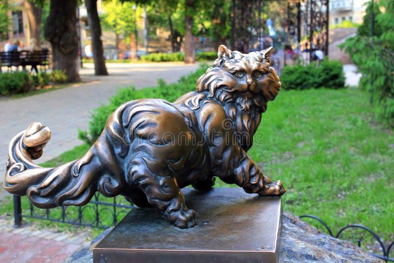 Monument à Cat Panteleimon, Kiev photos stock