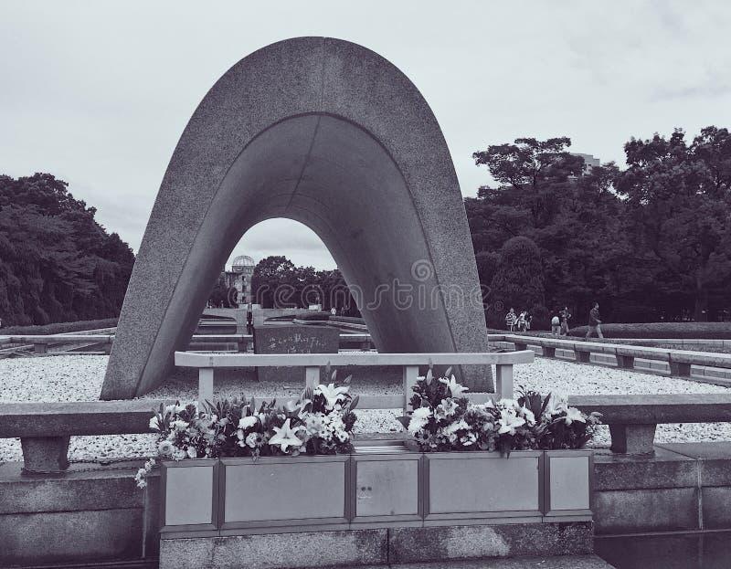 Monument à ceux qui ont péri à Hiroshima, Japon photos stock