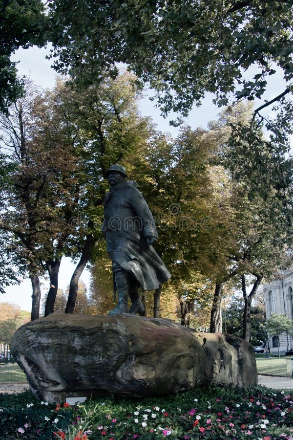Monument à Georges Clemenceau image stock