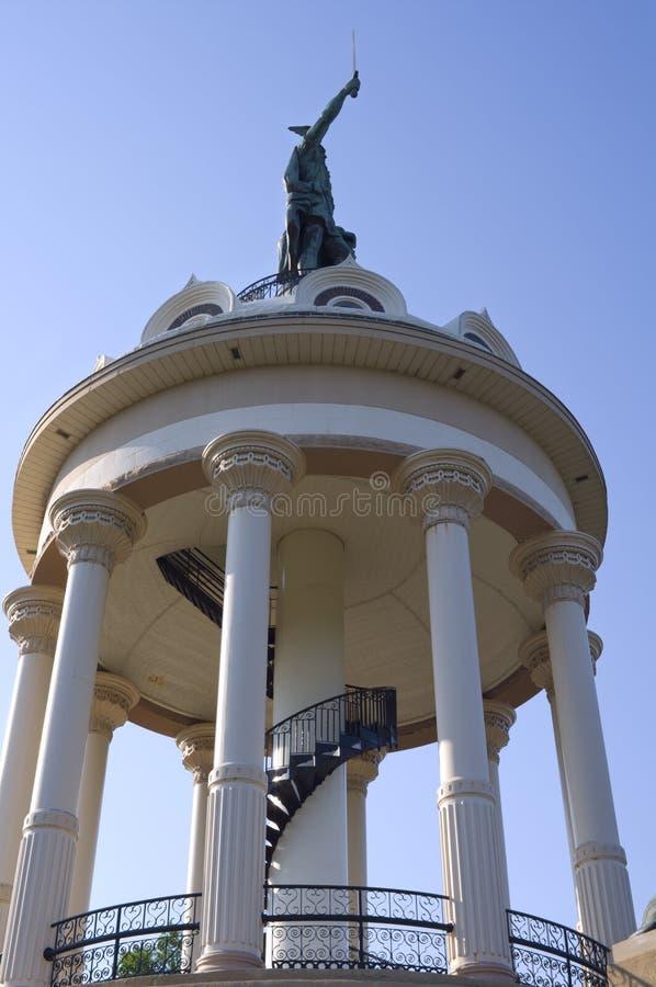 Monument à Hermann l'Allemand dans Ulm neuf image stock